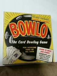 Vintage 1957 Bowl-o Card Bowling Game 21-feature Games-new W/sealed Decks