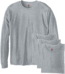 Hanes Menand039s Long-sleeve Comfortsoft T-shirt Pack Of 4
