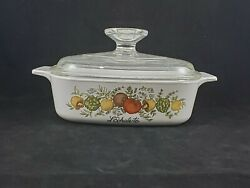 Corningware Land039echalote 1970s A-1-b Spice Of Life 1 Qt Casserole Dish With Lid