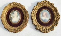 Vintage 8 Set Of 2 Cameo Creations Victorian Lady Framed Wall Pictures