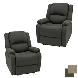 Recpro Charles 30 Rv Power Zero Wall Recliner Chair Fossil Cloth Furniture 2pk
