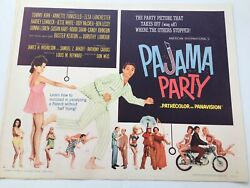 Pajama Party 1964 Original Movie Poster 22x28 Tommy Kirk Annette Funicello