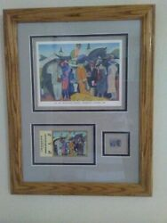 2002 Kentucky Derby Churchill Downs Ticket Stub, Pin And Small Poster Framed