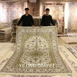 Yilong 6and039x9and039 Classic Handcraft Silk Area Rug Parlor Great Handmade Carpet 035m