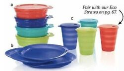 Tupperware Impressions Picnic Set Infusion Pitcher 4 Matching Cups Bowls Plates
