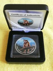 2012/ Canada 5 Wildlife Couger, Pure Silver .9999 In Capsule, Color Edit + Box
