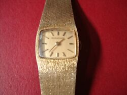 Vtg Jaeger-lecoultreandnbsp 18k Case And Band Mechanical Wind Up Watch