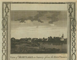 View Of Mortlake From Dukes Meadows. St Mary The Virgin Church. Thornton 1784