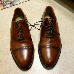 Deadstock Vintage Bass Waterproof Leather Captoes Shoes 8.5 Usa