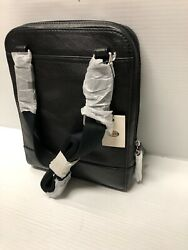 Fossil Rory Courier Leather Crossbody Bag Men#x27;s BLACK NEW $125.00