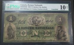 1 1860 Banque Nationale Pmg Vg-10 Net 510-10-04-02 Canada Quebec City