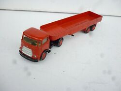 1/50 Lion Toys Car Kikker Daf Sixtees Vintage Truck And Trailer Nice Condition