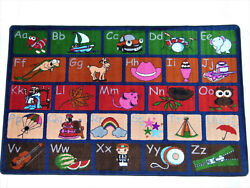 8and039 X 10and039 Abc Picture Phonics Area Rug Educational School Day Cares