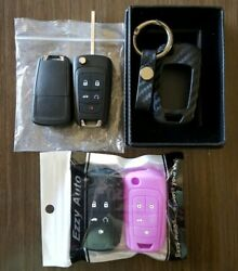 2 Replacement Keyless Entry Remote Car Key Flip Fobs For Chevrolet 057148 Covers