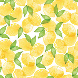 Magic Cover Lemons Flannel Backed Yard Goods Cover Pack Of 45