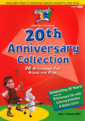 20th Anniversary Collection - 96 Wholesome Songs Cedarmont Kids Cds + Dvd New