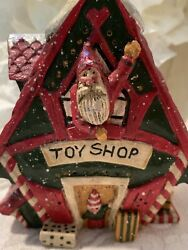Pam Schifferl Santa Toy Shop Village Christmas Figurine Midwest Of Cannon Falls