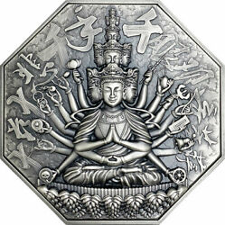 Goddess Of Mercy With One Thousand Hands 5 Oz Silver Coin 10 Niue 2020