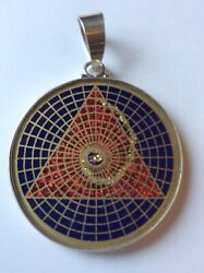 62 Golden Mean Triangle Necklace Lapis Gemstone 1.5 Pendant Gift Pyramid