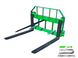 Es John Deere Combo 49 Spear And 42 Pallet Forks Jd Quick Attach Local Pick-up