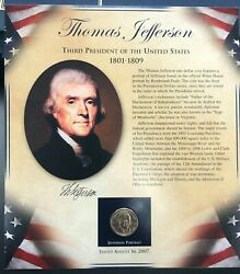 Pcs United States Presidents Coin Collection - Thomas Jefferson - Coin And Stamps