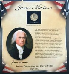 Pcs United States Presidents Coin Collection - James Madison - Coin And Stamps