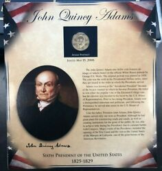 Pcs United States Presidents Coin Collection - John Quincy Adams - Coin And Stamps