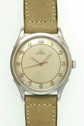 Omega 3hands 2438-7 Arabic Numeral Index Automatic Vintage Watch 1948and039s Oh