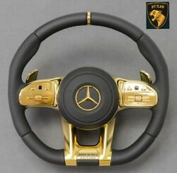 Mercedes Cls53 Cls43 C257 Steering Wheel Edition Gold Made In Germany