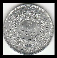 1951 Ah1370 Morocco - French Protectorate - Y48 5 Francs - High Grade Coin