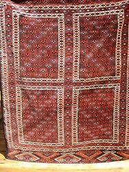 Antique 1890-1900 Turkoman Khachlou  Rug Good Pile You Must See 5'2 X 4 Feet