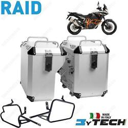 Suitcases Aluminum Silver Mytech 41+ 47 L And Frames For Ktm 1190 Adventure Abs 13