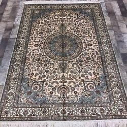 Yilong 4'x6' Hand Made Silk Classic Carpet Living Room Home Library Rug W340a