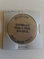 Vintage Wooden Nickel Ciaobellaand039s Pizza And Pasta For The Real Mccoy A1