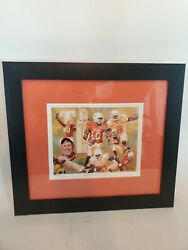R.tanenbaum Art 2005 Texas Longhorns Championship Signed Numbered V. Young - Sff