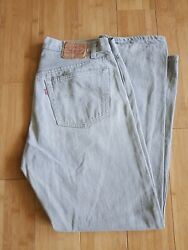 Vintage Men's Levi's 501 Jeans Size 38 X 32 36 X 32 Made In Usa Button 532