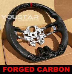 Forged Carbon Red Edition Steering Wheel Shelby Design For Ford Mustang 18-20