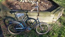 Vintage 70's Blue Amf Roadmaster Renegade Muscle Bike Bicycle Collector Decor