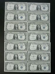 Lot Of 14 1935d, 35f, 35g, 57, 57a, 57b 1 Silver Certificates Star Notes