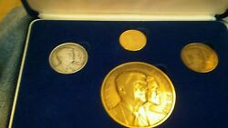 Vintage Very Rare 1984 Inaugration Ron Reagan 4-piece Medal Set With Gold Medal