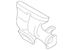 Genuine Ford Heater Duct 9g1z-18c433-a