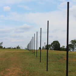 10and039 Deer Fence Heavy Line Posts Galvanized Pvc Coated Steel 61 Pack
