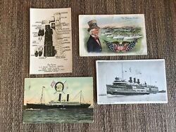Vintage early 1900s Uncle Sam Navy Ship Naval Training Steamer Postcards 1114 $12.00