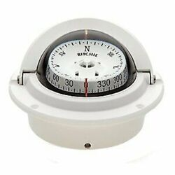 Ritchie Voyager Flush Mount 3 In Combidamp Dial Compass White F-83w