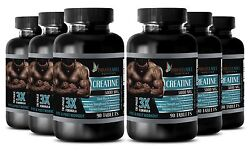 Pure Creatine Monohydrate Powder 3x 5000mg Hcl Weight Gainer - 540 Caps 6 Bot