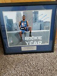 Karl Anthony Towns Wolves Autograph Roy Top Target Cent Frame 16x20 Ltd Ed 4/32
