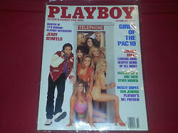 Playboy 1993 All 12 Issues Great Price Plastic Sleeves Two Top Ten Magazines