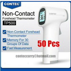 50pcs Infrared Forehead Easy Thermometer Non Touch Digital Lcd Termometro Tp500