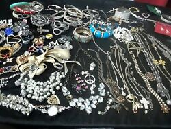 Vintage   jewelry 500 lbs lot mosty wearable some repair
