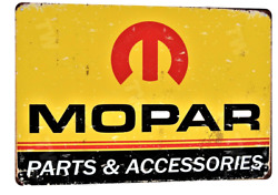 Mopar Classic Tin Sign Man Cave Garage Den Ford Chevy Blue Oval Bow Tie